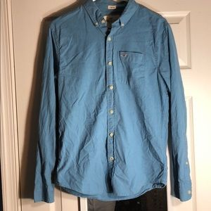 Blue button down from hollister
